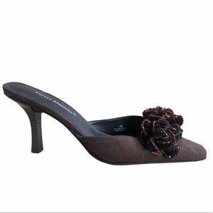Pierre Dumas Women's Shoes Size 7.5 Mule Clog Sued
